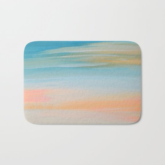 Fresh Colors Painterly Abstract Bath Mat