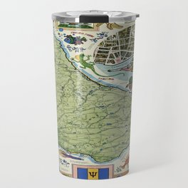 Vintage poster - Barbados Travel Mug