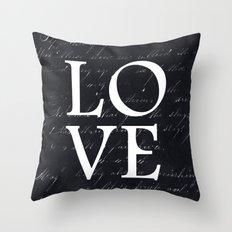 love - black edition Throw Pillow