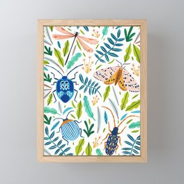 Bugs Pattern Framed Mini Art Print