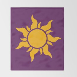 Tangled Rapunzel Sun Logo - Corona Symbol Throw Blanket