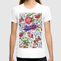 botanical T-shirts featuring Botanical Art by Burcu Korkmazyurek