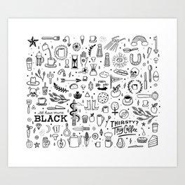 Coffee Life Art Print