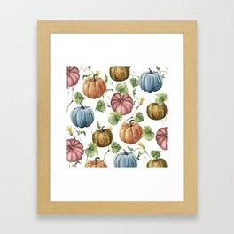 PUMPKINS WATERCOLOR Framed Art Print