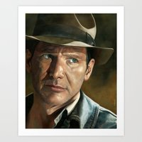 indiana jones Art Prints featuring Indiana Jones by scottmitchell