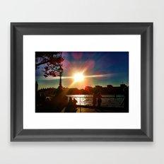 Sunset on the Bank Framed Art Print