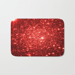 GalaXy : Red Glitter Sparkle Bath Mat