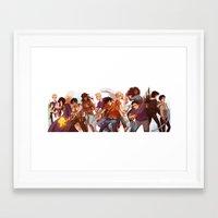 heroes of olympus Framed Art Prints featuring heroes of olympus by viria