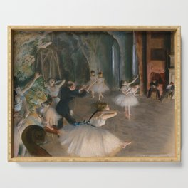 """Edgar Degas """"The Rehearsal Onstage"""" Serving Tray"""