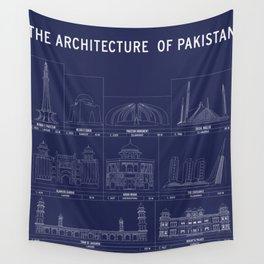 The Architecture of Pakistan Wall Tapestry