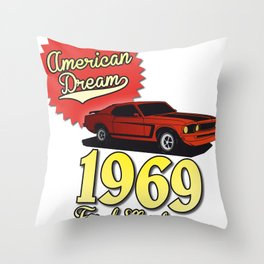 Ford Mustang 1969 Throw Pillow