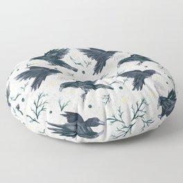 Odin's Ravens Pattern Print Floor Pillow