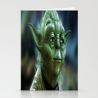 yoda Stationery Cards featuring Yoda by Robin Curtiss