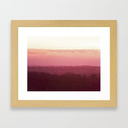 Sunset in Pink bywhacky Framed Art Print