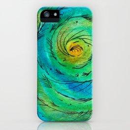 Peacock Swirl iPhone Case