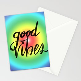 Good Vibes - Rainbow Pride Stationery Cards