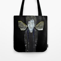 vonnegut Tote Bags featuring Kurt Vonnegut Jr Oil Painting by Tony King  by Tony King - Beautifully Mad