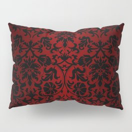 Dark Red and Black Damask Pillow Sham