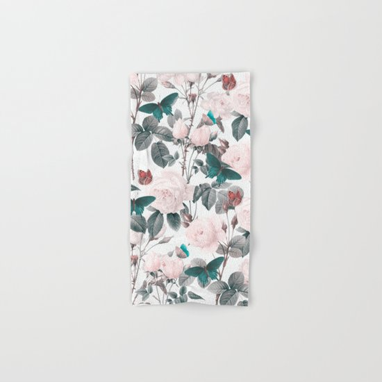 ROSES AND BUTTERFLIES Hand & Bath Towel