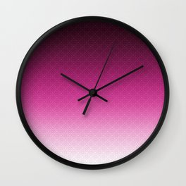 Purple Ombre Wall Clock