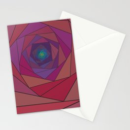 swirling pentagon 1 Stationery Cards