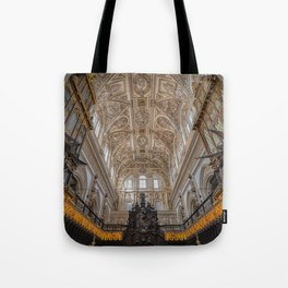 Choir in the Mosque–Cathedral of Córdoba Tote Bag