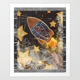 Blast Off Art Print