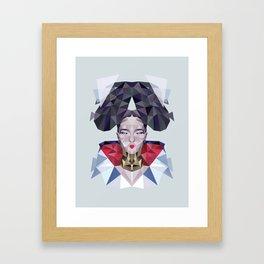 Freezing Sugarcube Framed Art Print