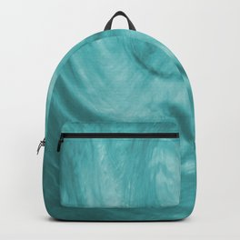 Flowing Teal Haze, Fluid Art Paint Pour Backpack