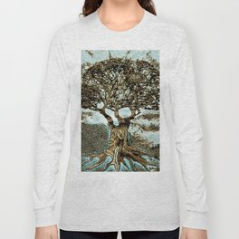 Brown Tree at Peace Long Sleeve T-shirt