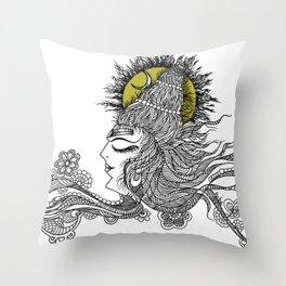 Shiva Moon Throw Pillow