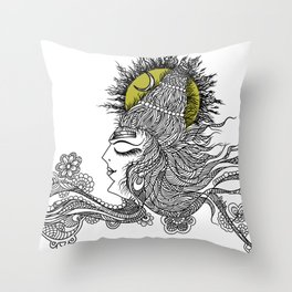 Shiva Moon Throw Pillow