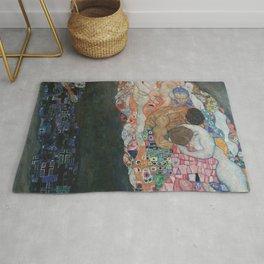 Life and Death - Gustav Klimt Rug