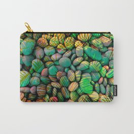 Stones and Palms - Caribbean Turquoise Carry-All Pouch