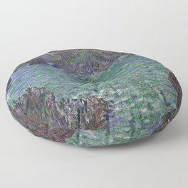 Belle-Ile by Claude Monet Floor Pillow