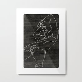 Relax-black Metal Print