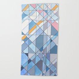 Triangle Pattern no.17 Light Blues Beach Towel