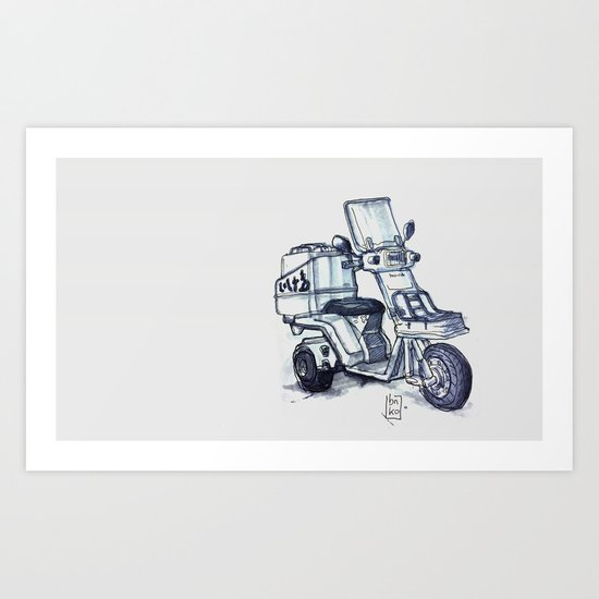 Honda delivery scooter japan Art Print