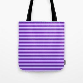 Dark Violet and Powder Blue Colored Stripes Pattern Tote Bag