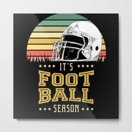 Retro It's Football season Metal Print