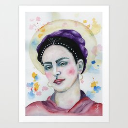 Frida in Watercolor Art Print