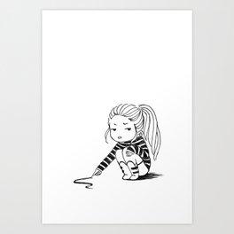 Bored Girl Art Print