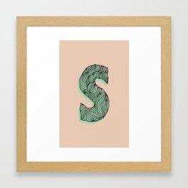 """""""S"""" Doodle Framed Art Print"""