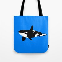 orca Tote Bags featuring Orca by Crayle Vanest