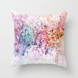 Purple Watercolour Rain Throw Pillow