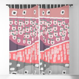 Apples and grains Blackout Curtain