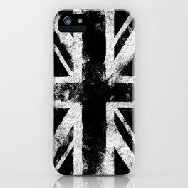 Black Grunge England flag iPhone Case