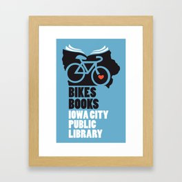 Bikes Books Iowa City Public Library Framed Art Print