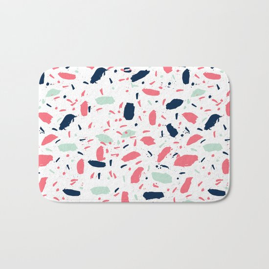 Meli - abstract pattern minimal modern gender neutral art print for home office nursery dorm Bath Mat