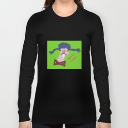 Spunky Turkey Purple Hair GB TX Long Sleeve T-shirt